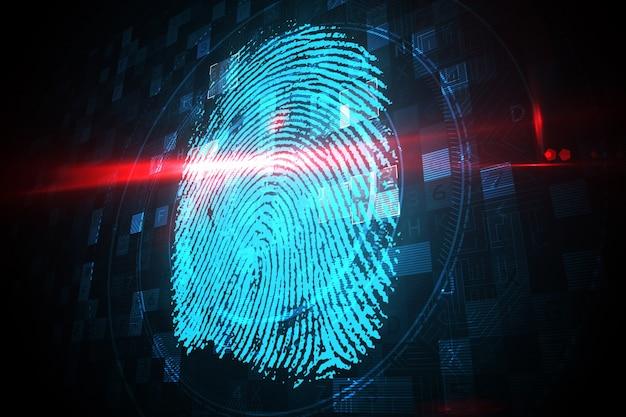 Digital security finger print scan