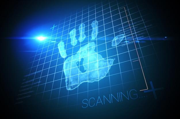 Digital security hand print scan