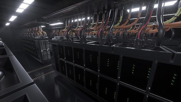 Digital server in a grunge room