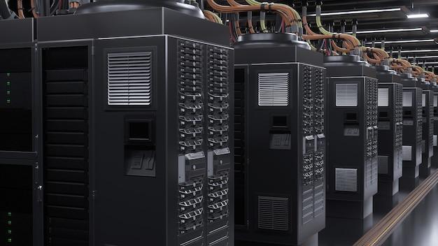 Цифровой сервер в комнате гранж