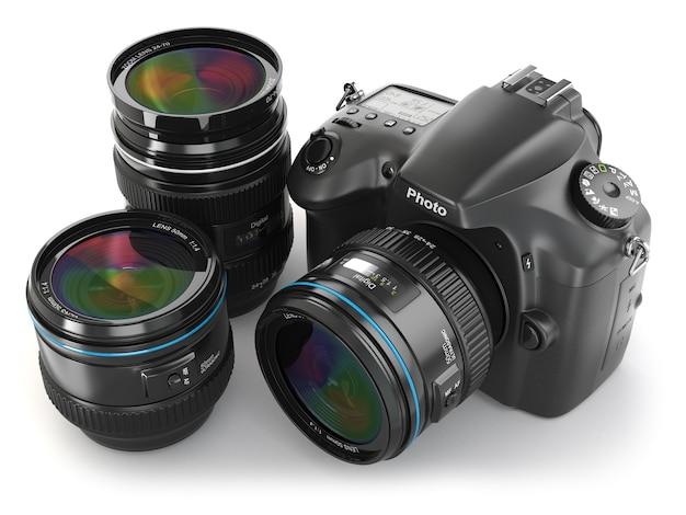 レンズ付きデジタル一眼レフカメラ写真撮影機器3d