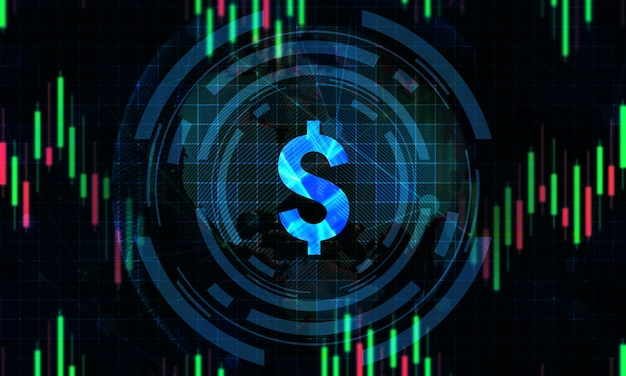 Digital stock market trading background
