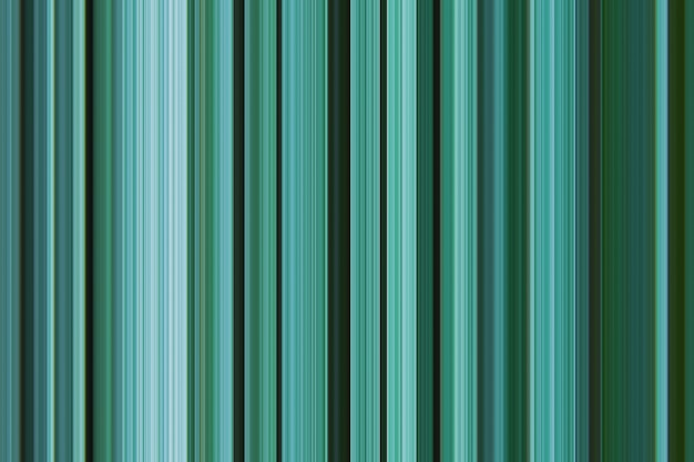Digital striped graphic pattern vertical lines hues monochrome palette of bluish pine green turquoise color variation