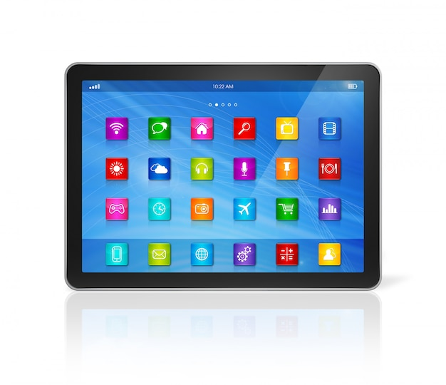 Digital tablet computer - apps icons interface