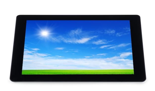 흰색 절연 디지털 태블릿