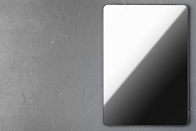 Digital tablet on office table