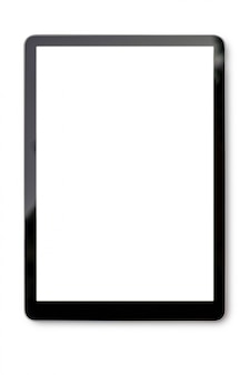 Digital tablet on white with clipping path