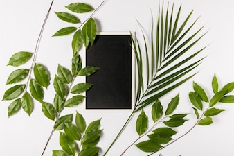Digital tablet with leaves
