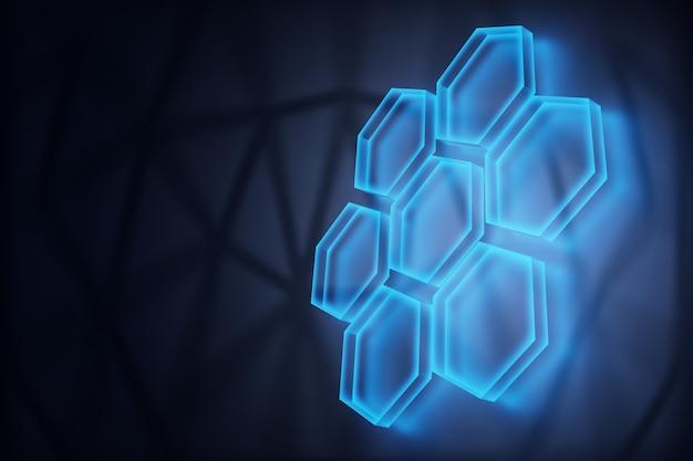디지털 기술 개념, 추상적인 배경입니다. 3d 렌더링