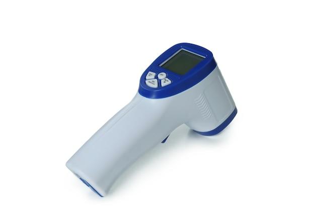 흰색 절연 디지털 온도계 총