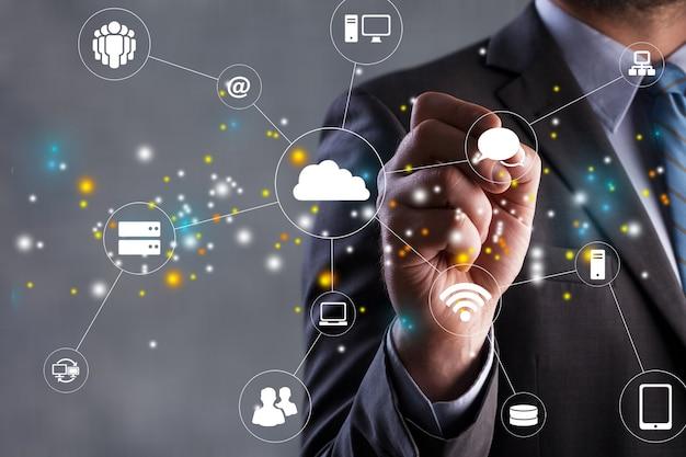 デジタルトランスフォーメーションの変更管理、モノのインターネット。新技術