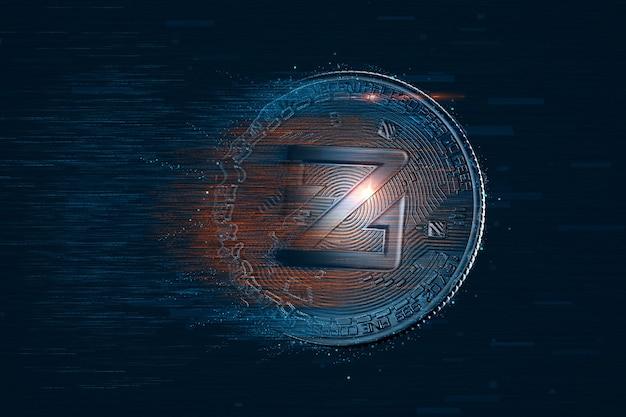 디지털 zcoin 코인. 암호화폐 개념