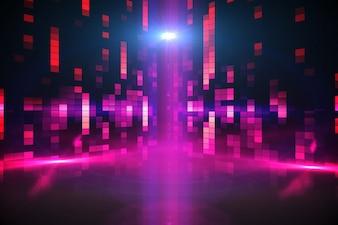 Digitally generated disco background in purple