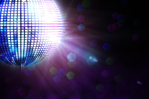 Digitally generated disco ball
