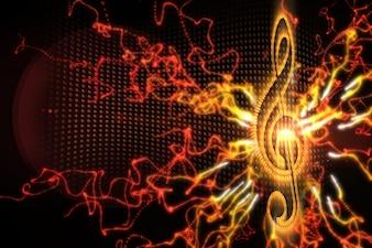 Digitally generated music background