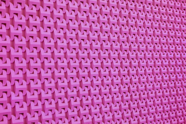 Diminishing perspective of vivid pink modern style wall