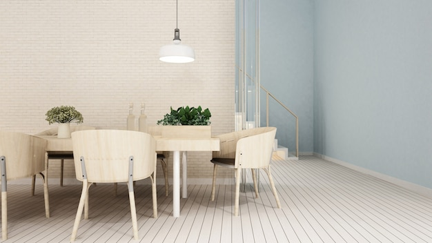 Dining area in apartment or condominium - 3d rendering