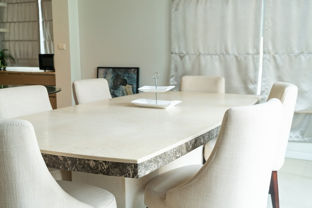 Dining table in dining room at home