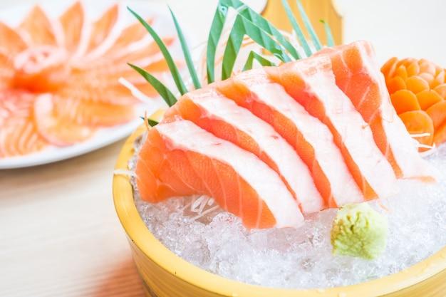 Dinner health plate sashimi asian