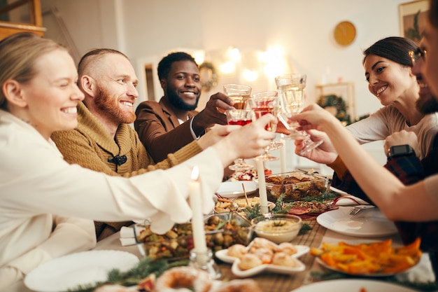 Dinner party at christmas