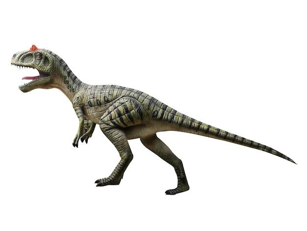 Динозавр на белом фоне юрского периода