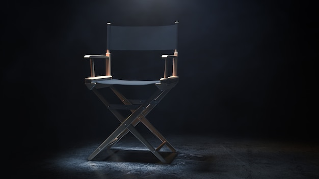 Director chair 3d rendering
