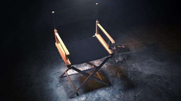 Director chair 3d rendering