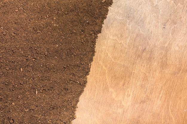 흙과 나무 표면 질감