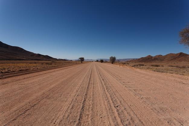 Dirt namibian road from mariental to sossusvlei