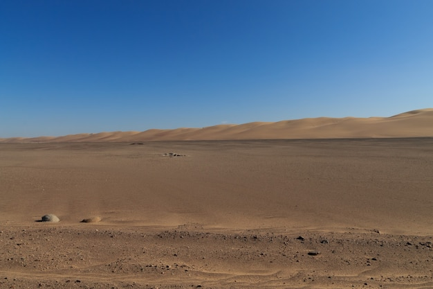 Dirt road from skeleton coast, namibia