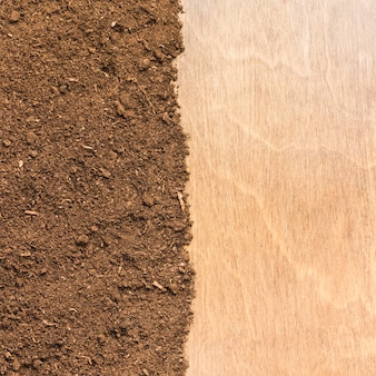 Dirt and wood surface texture