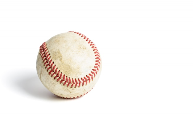 Dirty baseball isolated