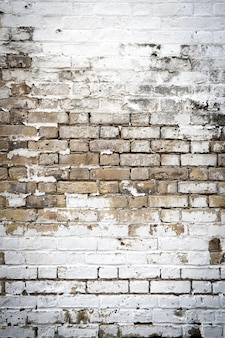 Dirty brick wall grungy red white & grey texture background