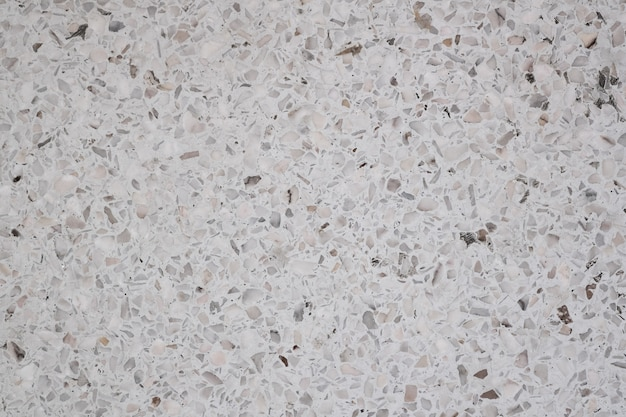 Dirty and dust on terrazzo polished stone floor and wall