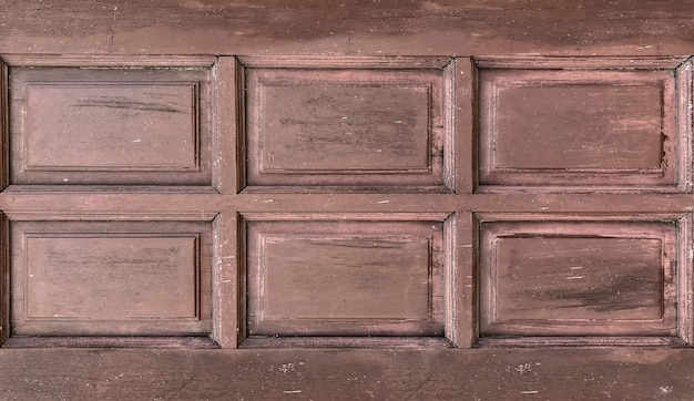 Dirty old aged brown wood window door wall background.