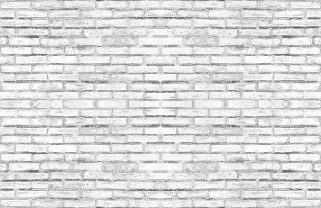 Dirty old white brick textured wall for light tone vintage interior design.