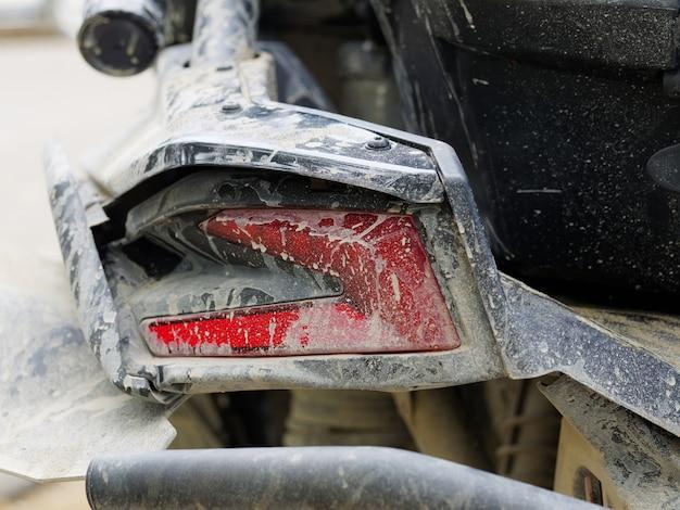 Dirty rear stop led light, of sports buggy utv, atv.