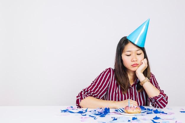 Compleanno deludente con ciambella