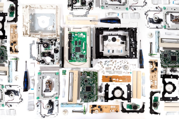 Disassembled dvd-rom drive