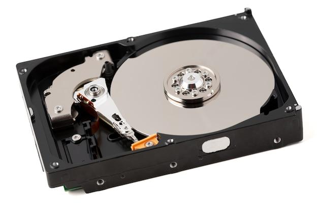 Изолированный разобранный жесткий диск