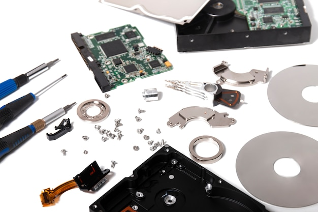 Disassembled hdd drive