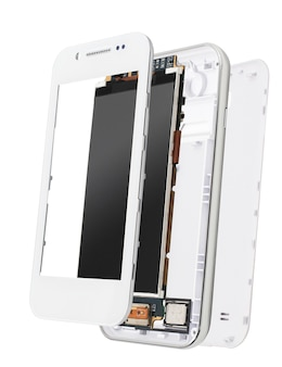 흰색 절연 분해 휴대 전화
