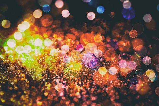 Освещение дискотеки. элегантный абстрактный фон с огнями боке и звездами
