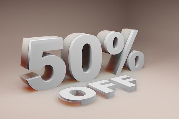 Discount 50 off illustration image