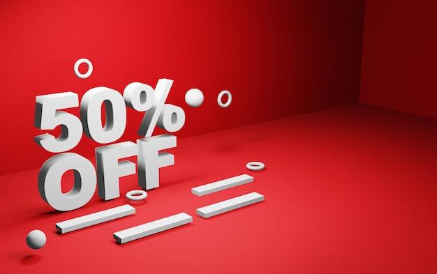 Discount illustration for website design