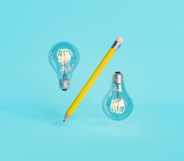 Символ скидки с карандашом и двумя лампочками