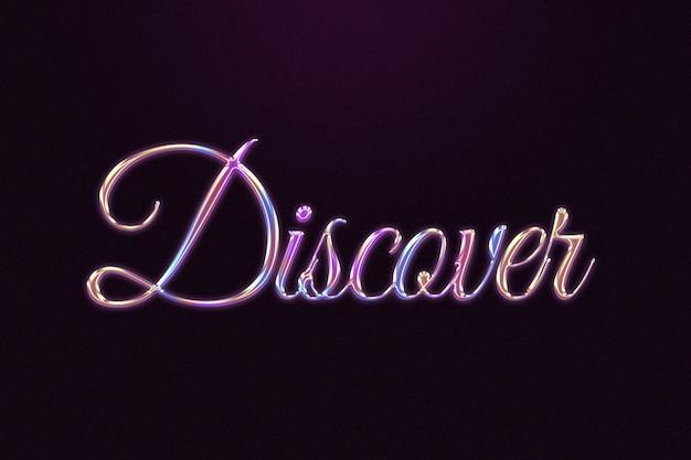 Scopri la parola in stile cromato colorato in rilievo Foto Gratuite