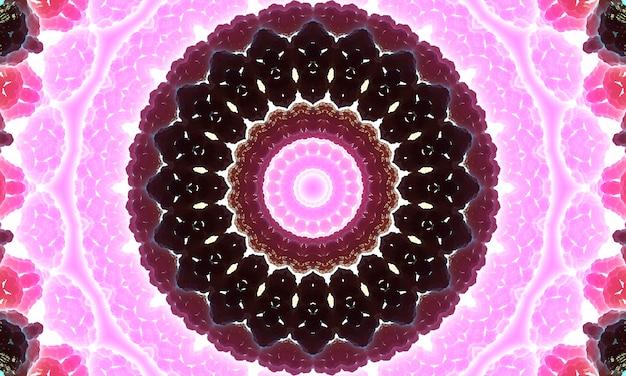 鮮やかな紫色のパターンの形とイラストスパイラルデザインのディスクとスケール