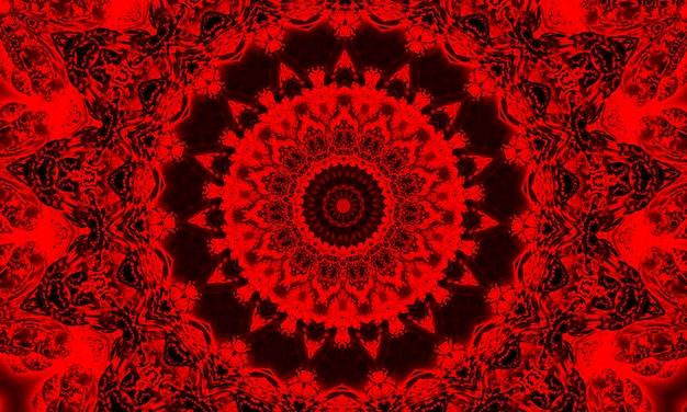 鮮やかな赤いパターンの形とイラストスパイラルデザインのディスクとスケール