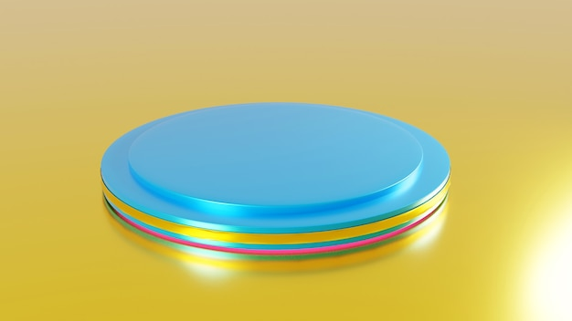 Discs  platform 3d rendering abstract stage renderings